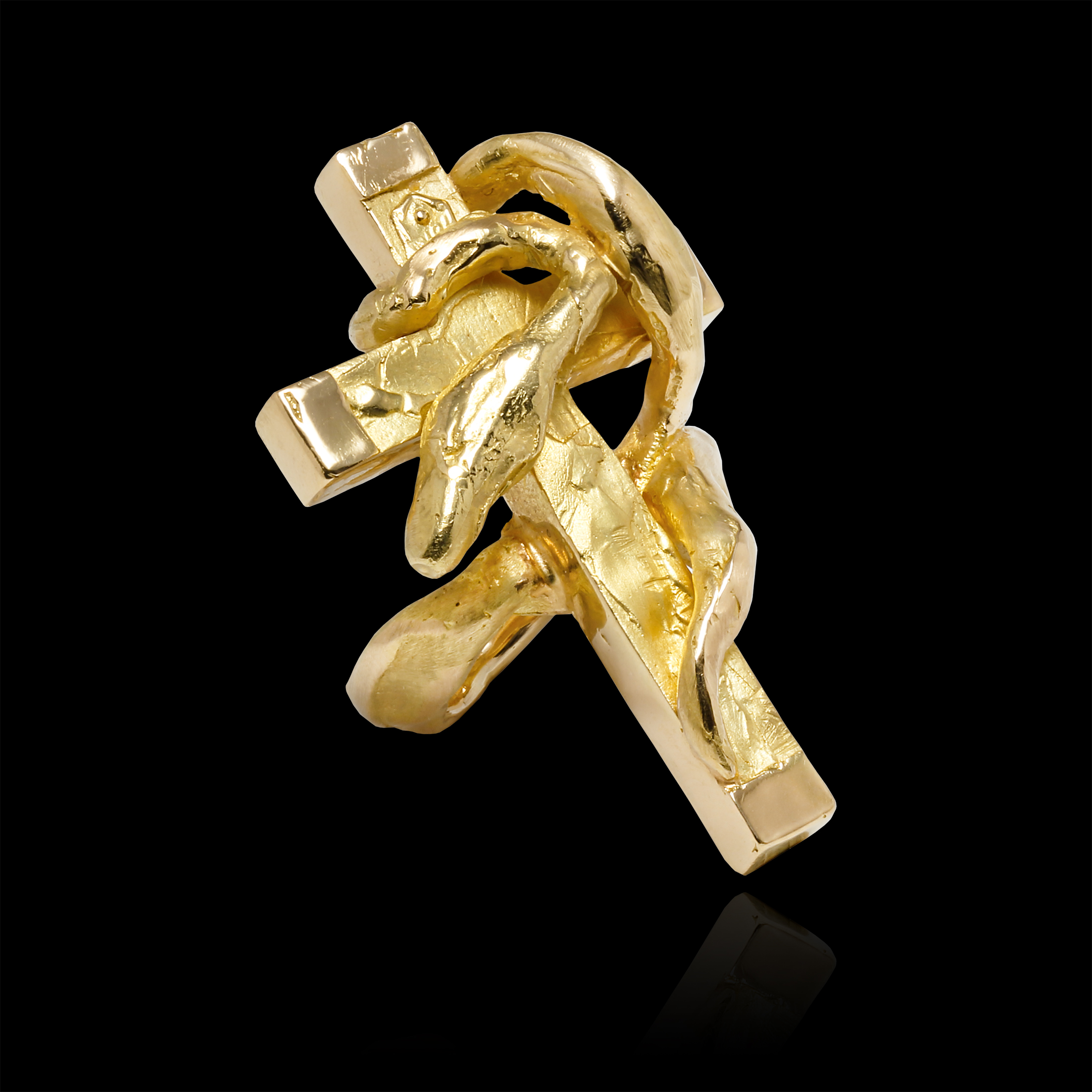 diamond to cut yellow pin rings gold the ring continue crucifix product at